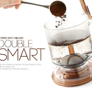Double smart coffee maker